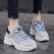 Women Athletic Lace Up Sneakers Platform Shoes