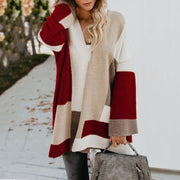 Women Loose Color Block Cardigans For Women