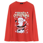 Autumn Winter Christmas Outfits Casual Basic Tee Women Tops