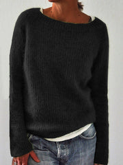Plus Size Women Pullovers Solid Knitted Sweaters