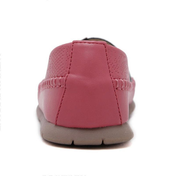 Vintage Pink Loafers for Women Lightweight Comfort Walking Shoes - Chicshoeshop