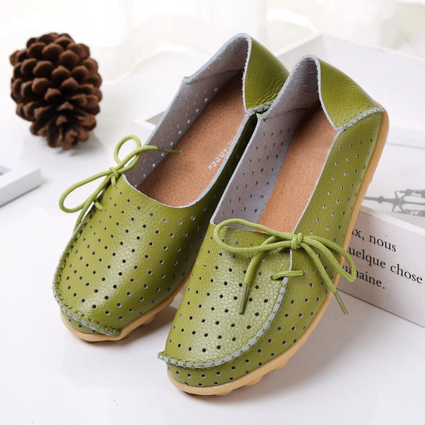 20 Colors Summer Hollow out Breathable Flat Shoes for Women - Chicshoeshop