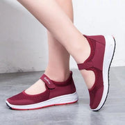 Women Mesh Fabric Breathable Magic Tape Sneakers