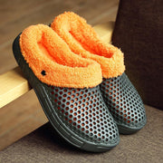 Large Size Hollow Out Winter Casual Slippers For Women - Chicshoeshop