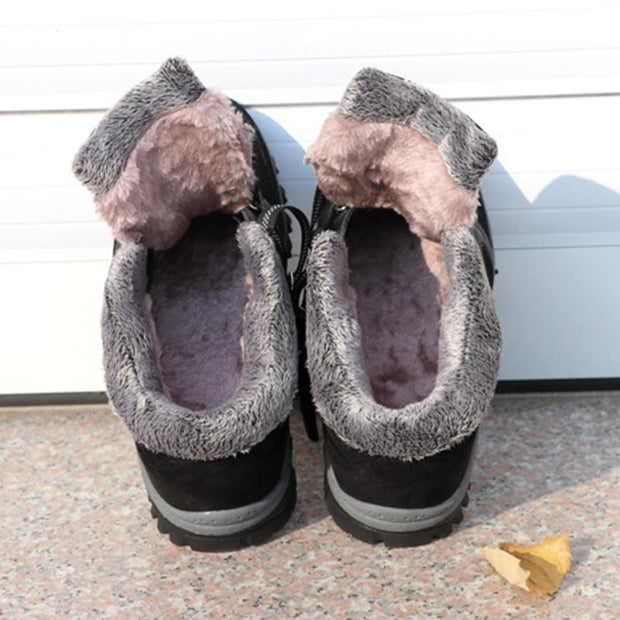 Comfortalbe Antiskid Fur Lining Low Heel Ankle Boots For Women - Chicshoeshop