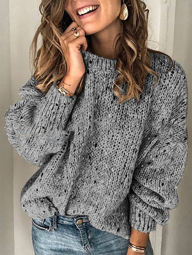Vintage Cotton Long Sleeve Knit Sweaters For Women
