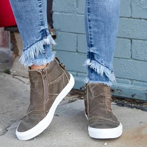 Women Casual Daily Camouflage Platform Flat Sneakers - Chicshoeshop