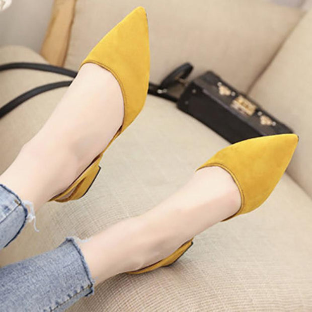 Suede Spring/Fall Low Heel Casual Pumps