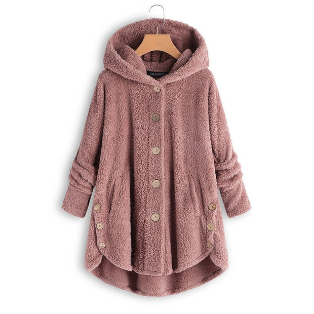 Fluffy Hooded Pullover Loose Sweater - Chicshoeshop