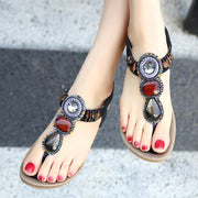 Bohemia Beads Summer Shoes Wild Casual Beach Women Sandals - Chicshoeshop