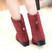 Waterproof Mid-Calf Boots for Women Warm Fur Shoes for Winter - Chicshoeshop