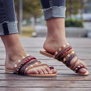 Roman Plus Size Comfortable Beach Flat Sandals
