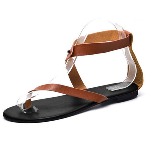 Women Ankle Wrap Strappy Flat Sandals