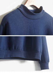 9 Colors Winter Solid Round Neck Long Sleeve Velvet Warm Sweatshirts