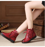 Genuine Leather Wool Warm Winter Ankle Boot - Chicshoeshop