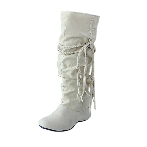 Thigh High Boots for Women with Tessals Pattern - Chicshoeshop