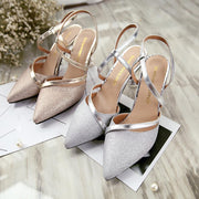 Sexy T-Strap Pointed Toe Heels - Chicshoeshop