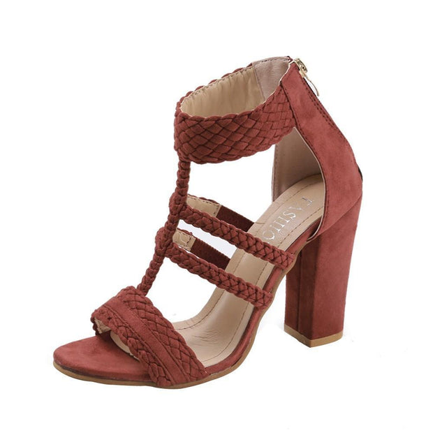 Peep Toe Leisure High Heels Sandals For Women - Chicshoeshop