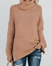 Ladies Turtleneck Knitted Pullovers - Chicshoeshop