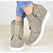 Chunky Mid Wedge Heels Ankle Boots Pumps Platform - Chicshoeshop