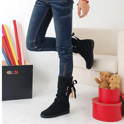 Lace-up Mid-Calf Boots - Chicshoeshop