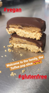 Toffee pop inspired cake slice /vegan /gf