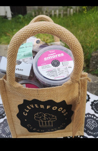 Cleverfoods Jute gift bag (products not included)