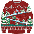 3D All Over Printed Christmas Truck Shirts-Apparel-6teenth World-Sweatshirt-S-Vibe Cosy™