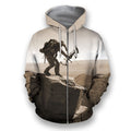 3D All Over Print Bowhunting Hoodie and Shirts-Apparel-NTT-Zip-S-Vibe Cosy™