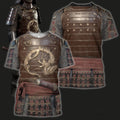 3D All Over Printed Dragon Samurai Armor-Apparel-HP Arts-T-Shirt-S-Vibe Cosy™