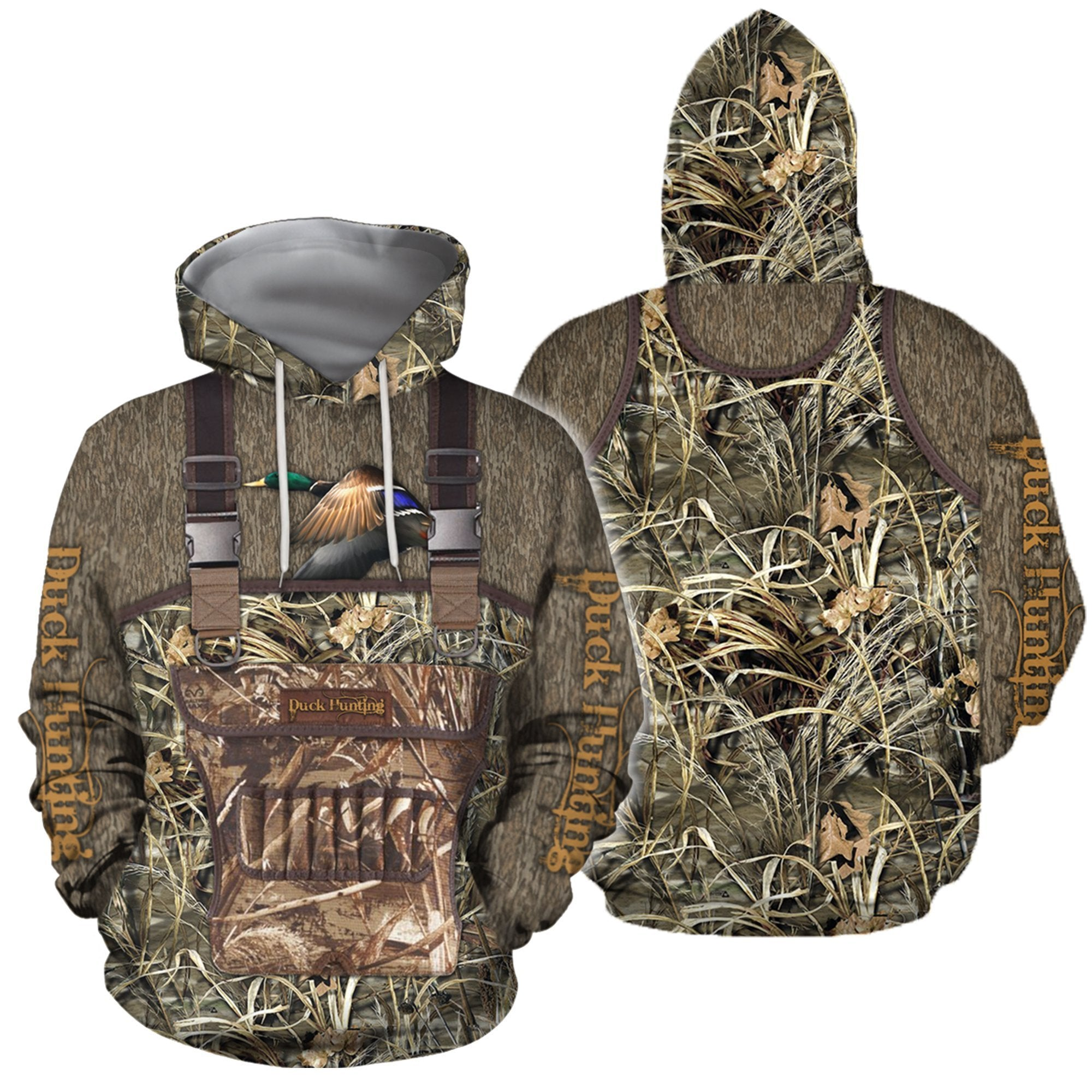 3D All Over Printed Hunting Duck Camo-Apparel-HP Arts-Hoodie-S-Vibe Cosy™
