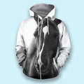 3D All Over Print Beautiful Horse-Apparel-NTT-Zipped Hoodie-S-Vibe Cosy™