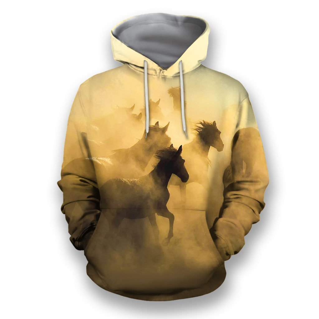 3D All Over Print Wild Horses-Apparel-NTT-Hoodie-S-Vibe Cosy™
