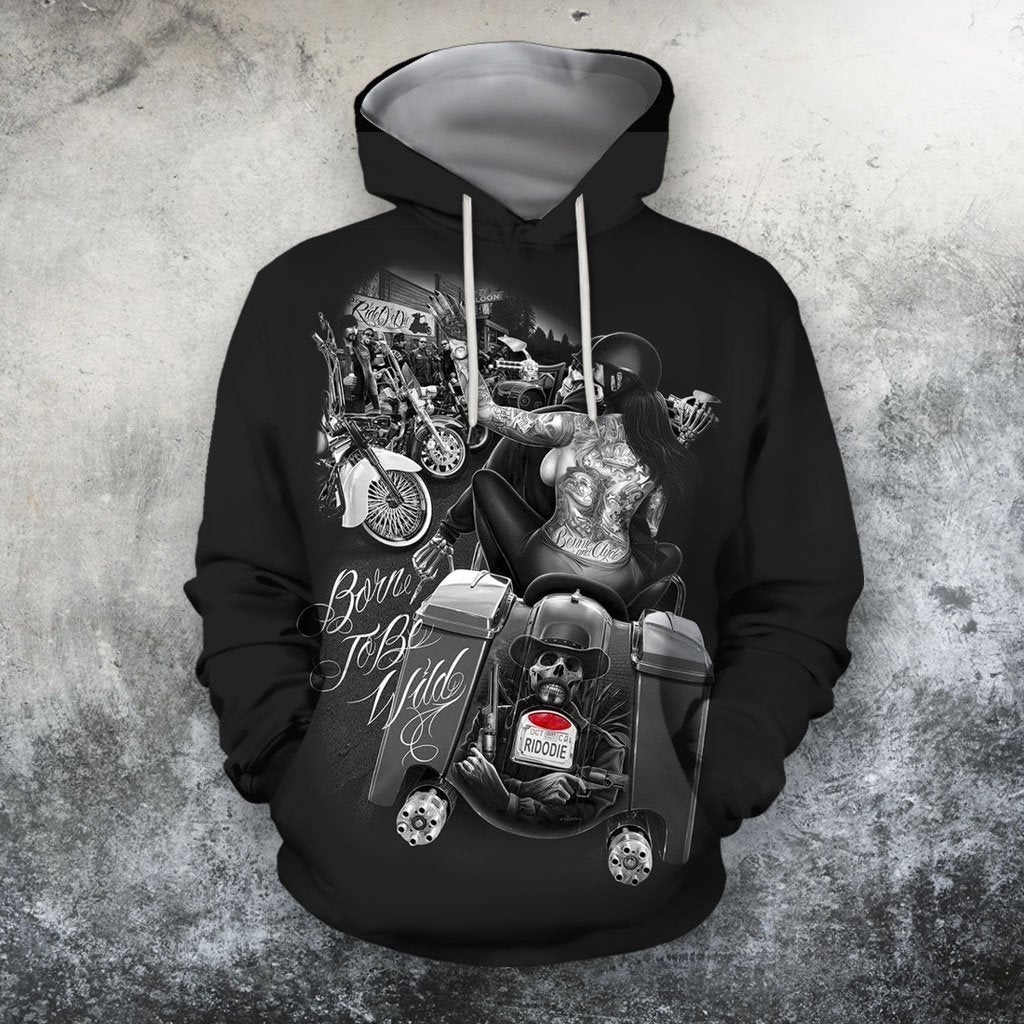 3D All Over Print Born To Be Wild Hoodie and Shirts-Apparel-NTT-Hoodie-S-Vibe Cosy™