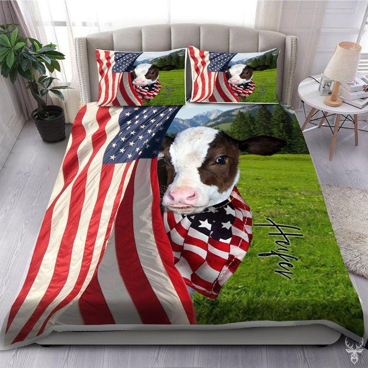 COW FLAG BEDDING SET-HP-Bedding-HP Arts-Twin-Vibe Cosy™