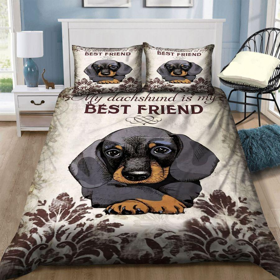 Love Dachshund Bedding Set TA0711205-Quilt-TA-Twin-Vibe Cosy™