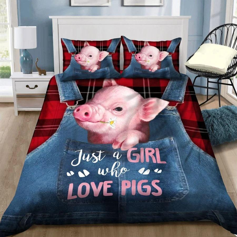 Just A Girl Who Love Pigs Bedding Set TA0720202-Quilt-TA-Twin-Vibe Cosy™