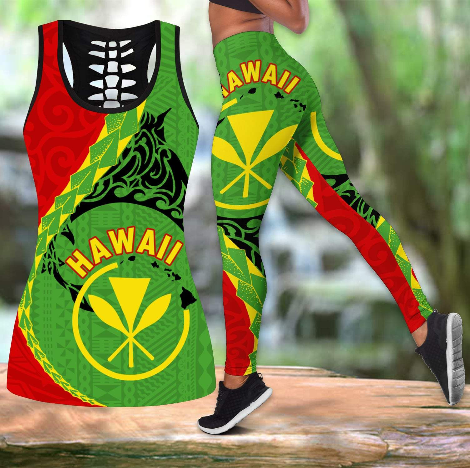 Hawaii Combo Tank Top + Legging DQB07152001-Apparel-TA-S-S-Vibe Cosy™