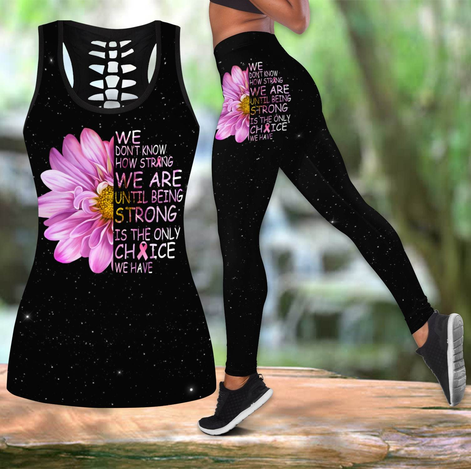Breast Cancer Combo Tank + Legging DQB07252004-Apparel-TA-S-S-Vibe Cosy™