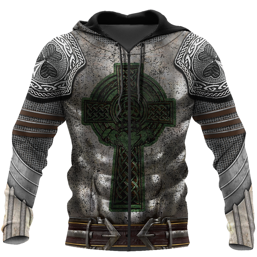 Irish Armor Warrior Chainmail 3D All Over Printed Shirts For Men and Women AM250204-Apparel-TT-Zipped Hoodie-S-Vibe Cosy™