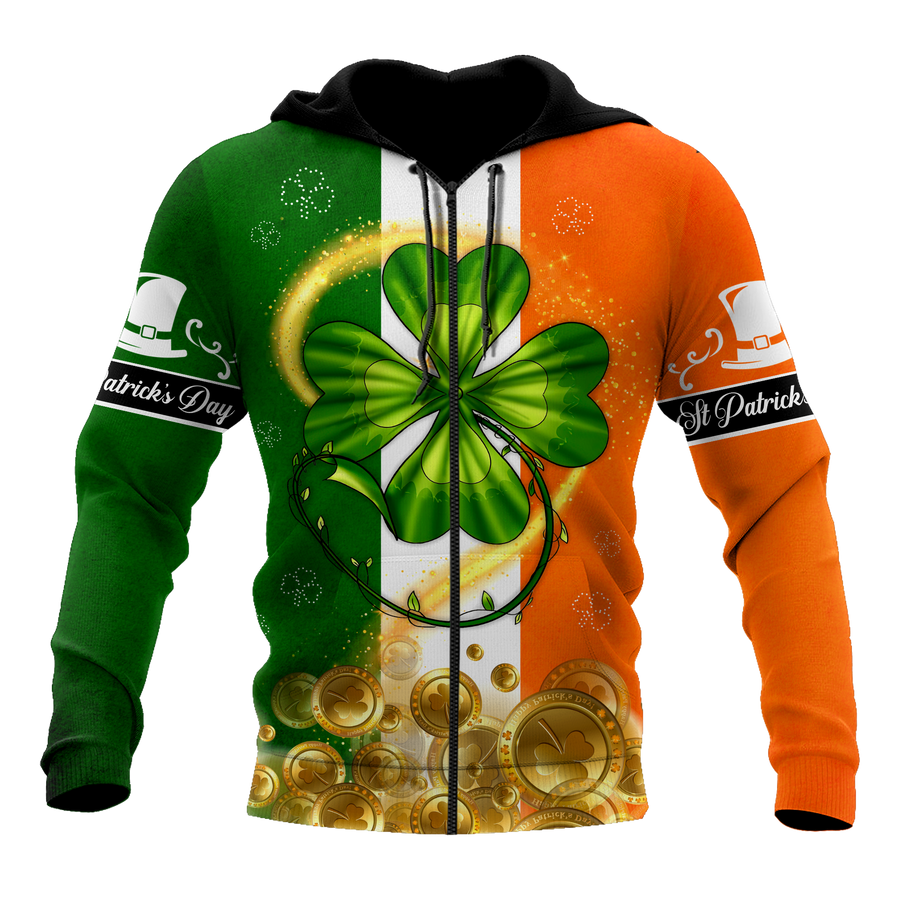 Irish St.Patrick day 3d hoodie shirt for men and women AM112036