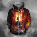 3D All Over Print Dragon Temple-Apparel-PHLong-Zip-S-Vibe Cosy™