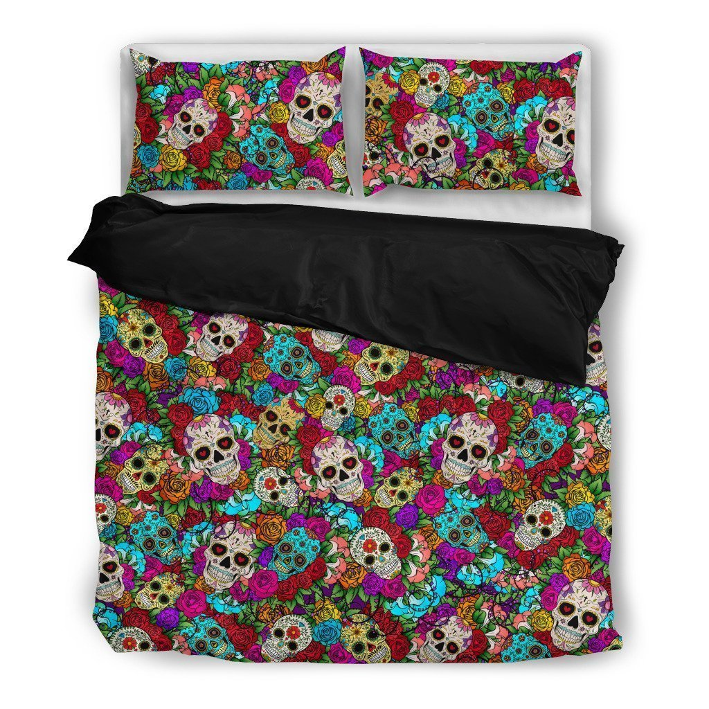 Sugar Skull Duvet-6teenth World™-Bedding Set-Twin-Vibe Cosy™