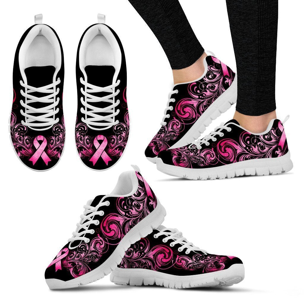 Breast Cancer Awareness Women's Sneakers-6teenth World™-Women's Sneakers-US5 (EU35)-Vibe Cosy™
