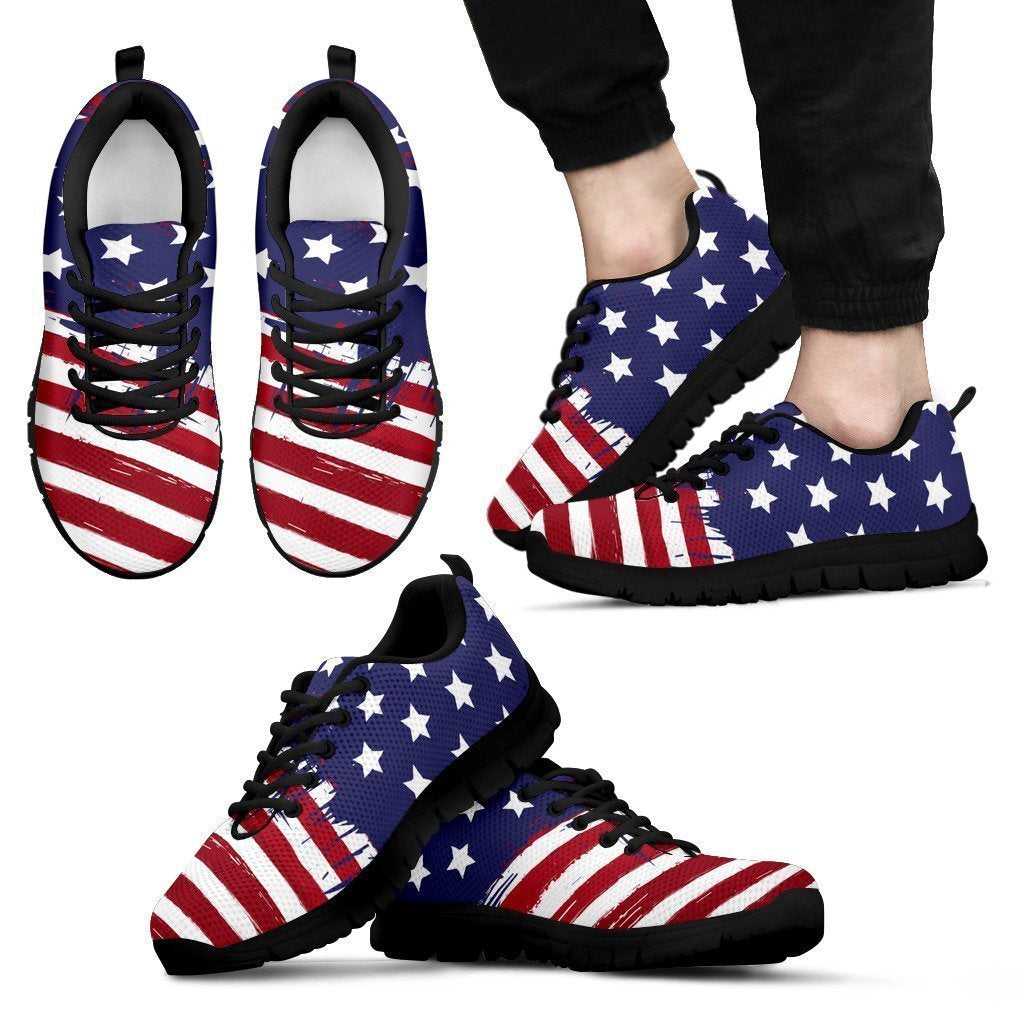 USA Collection - Men's Sneakers Black-6teenth World™-Men's Sneakers-US5 (EU38)-Vibe Cosy™