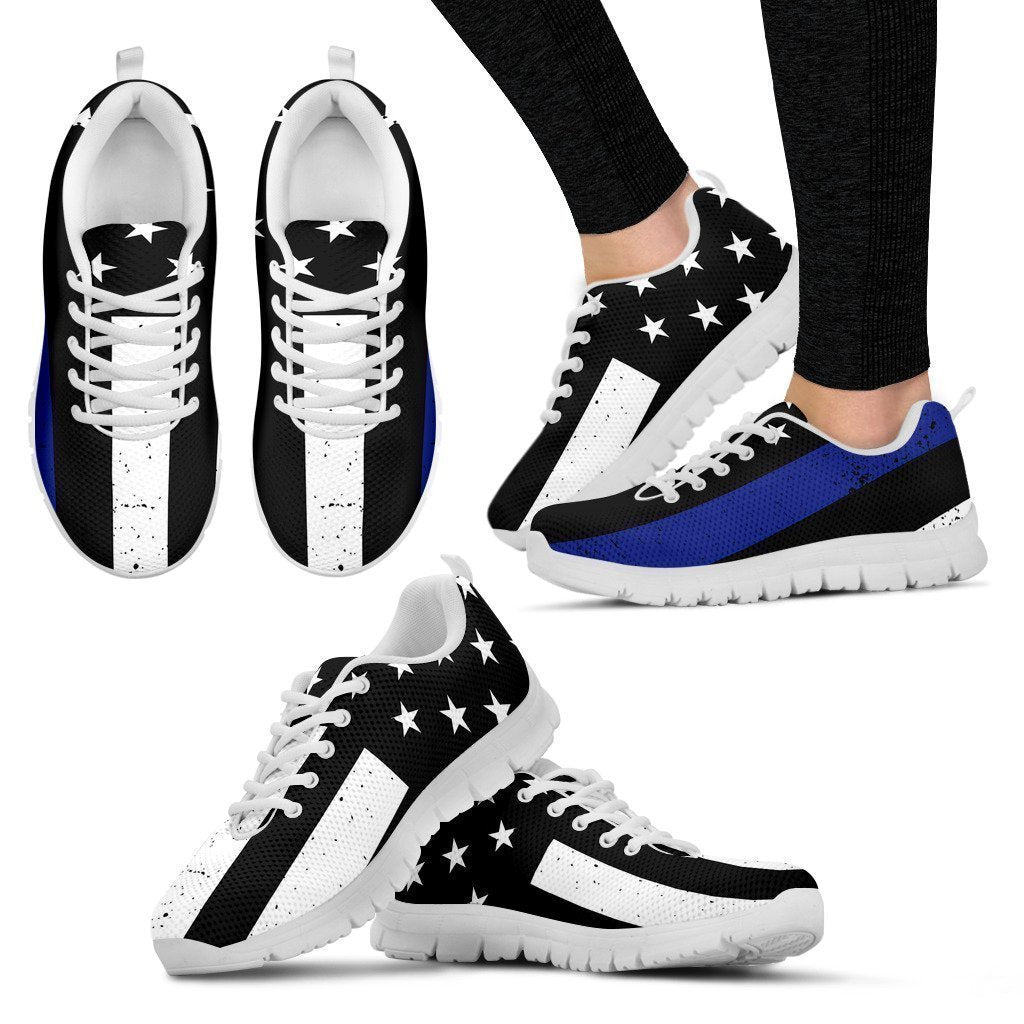Thin Blue Line Women's Sneakers-6teenth World™-Women's Sneakers-US5 (EU35)-Vibe Cosy™