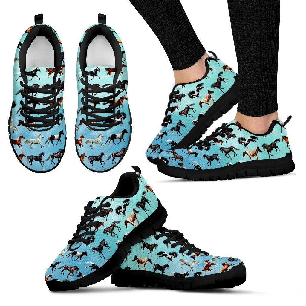 I Love Horse Women's Sneakers-6teenth World™-Women's Sneakers-US5 (EU35)-Vibe Cosy™
