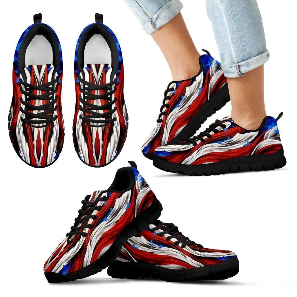 America Flag Kid's Sneakers-6teenth World™-Kid's Sneakers-11 CHILD (EU28)-Vibe Cosy™