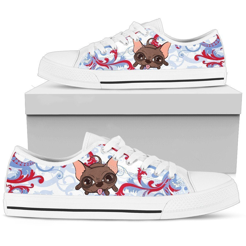 Chihuahua funny Women's Low Top Shoe-6teenth World™-Women's Low Top Shoe-US5.5 (EU36)-Vibe Cosy™