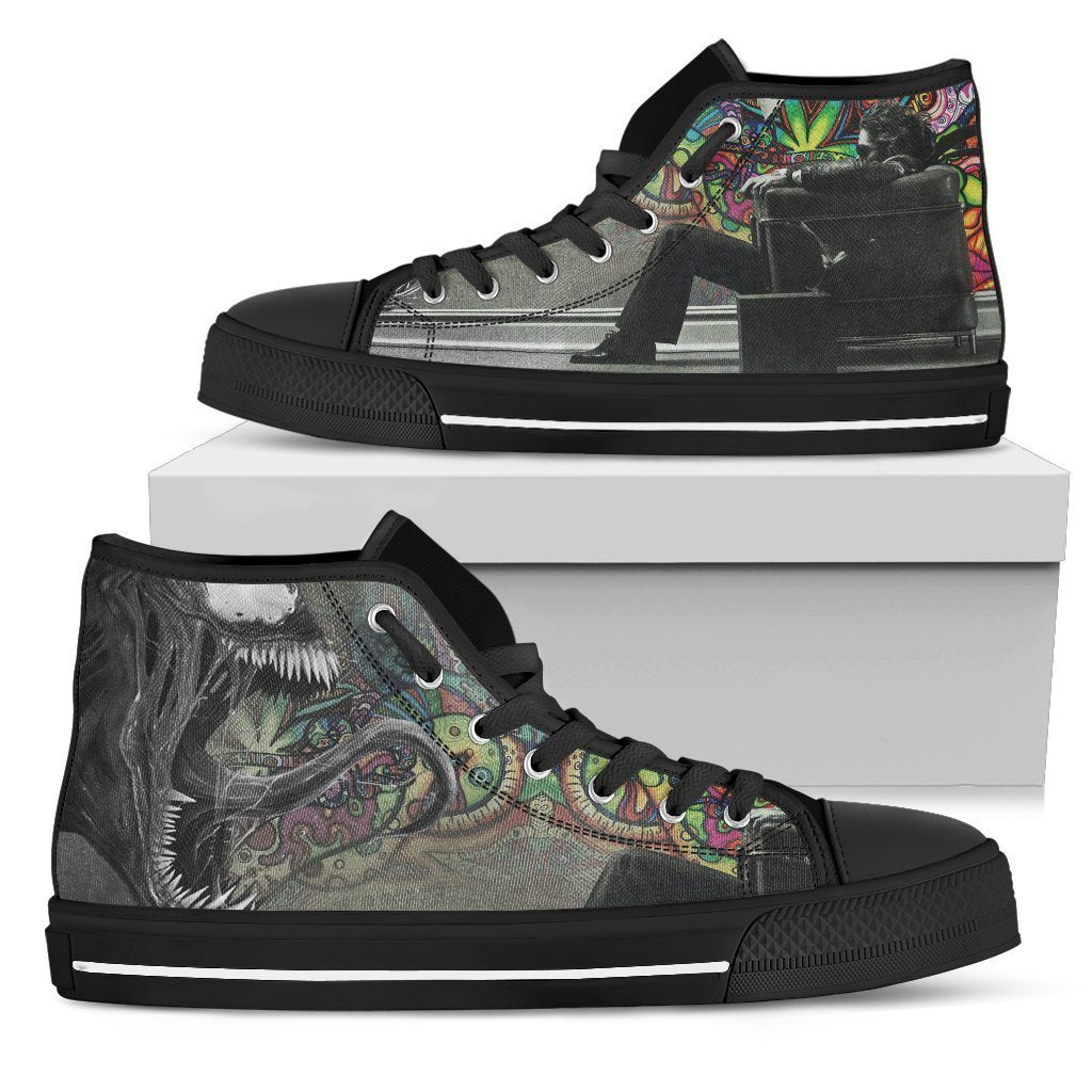 Stranger Shoes-Shoes-6teenth Outlet-Mens High Top - Black - Stranger Shoes-US5 (EU38)-Vibe Cosy™
